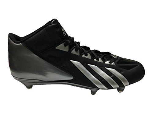 adidas Filthyquick Mid D Football Cleats (13, Black/Platinum/Titanium)