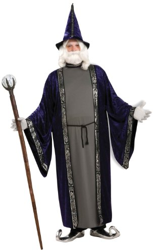Best Magician Costume (Forum Novelties Men's Wizard Adult Costume, Purple, X-Large)