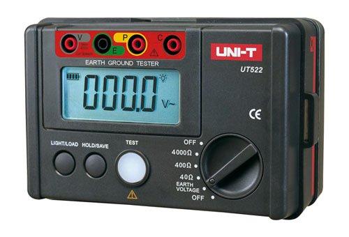 Nero Uni-T UT-522 Misuratore di Resistenza di Terra