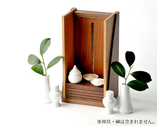 モダン神棚 hinowa 飾る神棚の提案 ウォールナット製神棚 B00EXKCMUY