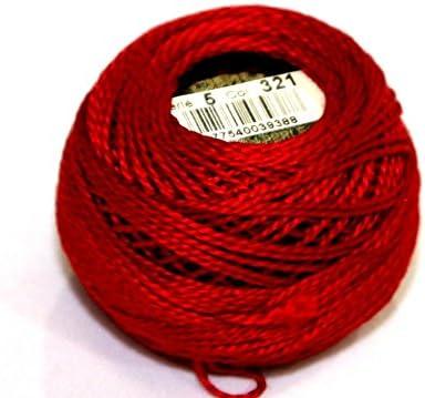 DMC algodón hilo perle tamaño 5 321 – por 10 g) + libre Minerva ...