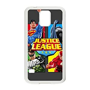 Justice League Team Power Up Grey Samsung Galaxy S5 Cell Phone Case White Protect your phone BVS_666842