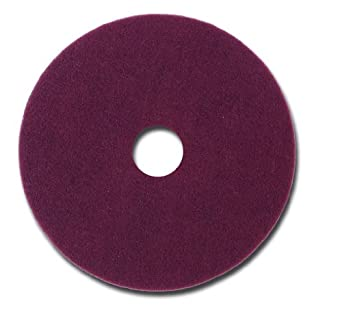 """Glit 11512 TN Polyester Blend Maroon Wood Surfacing Pad, Synthetic Blend Resin, Aluminum Oxide Grit, 12"""" Diameter, 175 to 350 rpm (Case of 10)"""