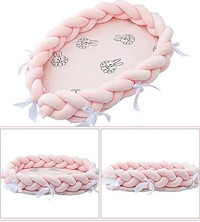 A Bettumrandung Babynest Nestchen Babynestchen Kuschelnest Herausnehmbarer Einsatz Reisebett 80x50x20cm