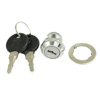 Barrio eDealMax multifunción Turn 18 mm Rosca macho cerradura de la leva w dos llaves