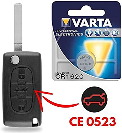 Coque cl/é plip t/él/écommande bouton Phare Peugeot 107 207 307 308 Avec rainure