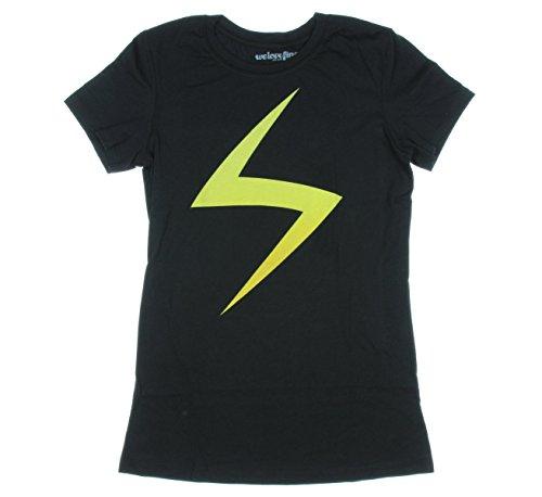 Marvel Comics Ms. Marvel Juniors' T-Shirt Black Medium