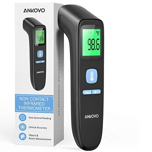 ANKOVO Touchless Thermometer for Adults, Non Contact Forehead Thermometer for Fever, Digital Infrared Thermometer with…