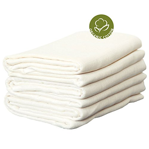 - Disana (Pack of 3) Muslin Flat Nappy/diaper/liner 100% Organic Cotton Made in Germany