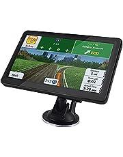 Sat Nav (7 inch), met 2021 UK Ierland Europa Kaarten (Gratis), GPS-navigatie voor Auto Vrachtwagen Vrachtwagen HGV Camper, Inclusief Postcode POI, Speed Cam Alerts