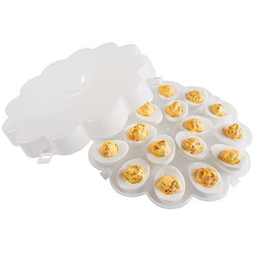 Chef Buddy Deviled Egg Trays with Snap On Lids, Set of 2