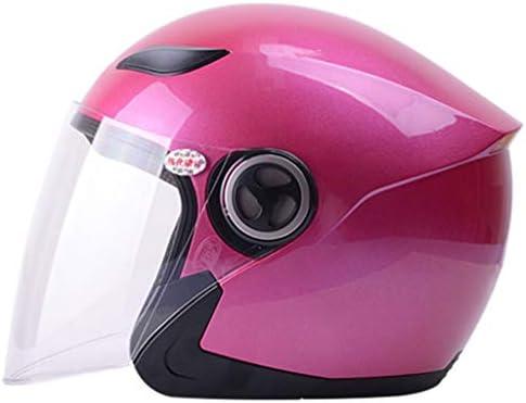 NJ ヘルメット- 電動オートバイのヘルメットの男性と女性の四季の防曇ヘルメット (色 : Roland red, サイズ さいず : 33x25x26cm)