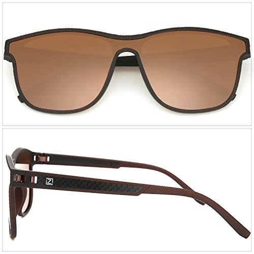 Glasses Sunglasses Brown Brown C1 Polarized All ZENOTTIC Lens Men Lens Polarized Frame Stylish nqWvwqfYI