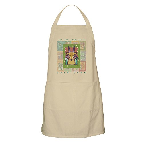 CafePress Capricorn BBQ Apron Kitchen Apron with Pockets, Grilling Apron, Baking Apron