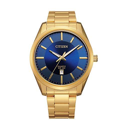 Citizen Quartz Mens Watch, Stainless Steel, Classic, Gold-Tone (Model: BI1032-58L)