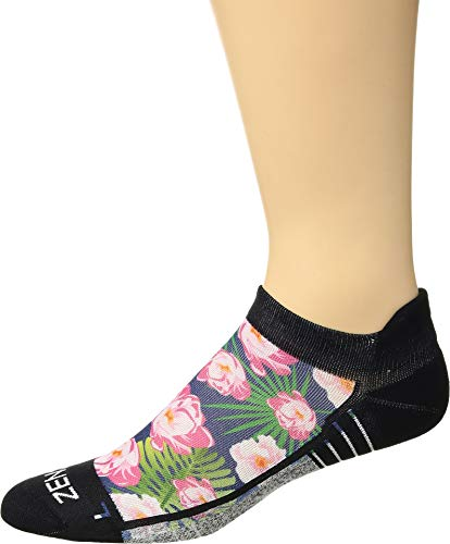 Zensah Unisex Limited Edition Socks (No Show) Navy Floral Medium