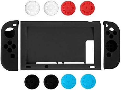 Nintendo Switch Case, Chickwin Silicona suave duradera flexible antideslizante funda protectora de silicona de silicona para Nintendo Switch (Negro): Amazon.es: Electrónica