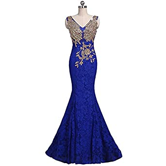 YIPEISHA Evening Dress for Women Formal Prom Dresses Bridesmaid Wedding Guest Gowns US 2 Royal Blue