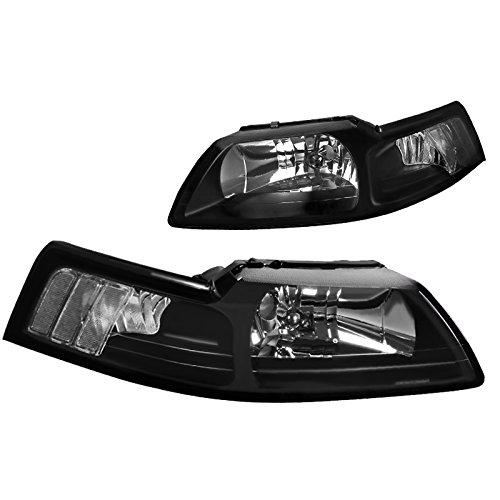 - Spec-D Tuning LH-MST99JM-RS Ford Mustang GT V6 Headlights Black Lamps