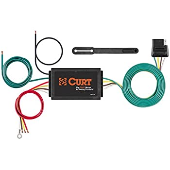 amazon com curt 56040 vehicle side custom 4 pin trailer wiring curt 56146 powered 3 to 2 wire splice in trailer tail light converter 4 pin wiring harness