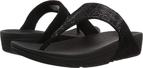 FitFlop Women's Electra¿ Micro Toe Post Black 8 M US M (B)