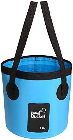 Fssh-mlx 折りたたみバケツポータブルバケツの水コンテナストレージキャリアバッグ釣り12L防水ウォーターバッグ (色 : 12L BLUE)