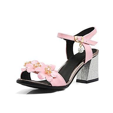 LvYuan Mujer-Tacón Robusto-Otro-Sandalias-Vestido Informal-PU-Negro Rosa Blanco Pink