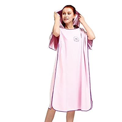 Homeself Microfiber Surf Changing Towel Poncho Robe With Hood, Hooded Bath Robe Towel Wetsuit for Beach swim watersports, One Size Fits All