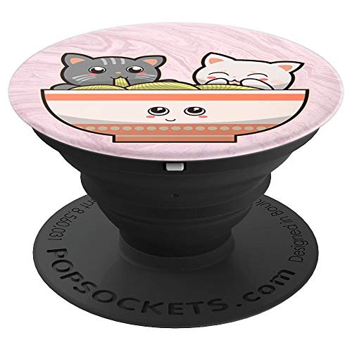 Japanese Anime Cute Cats Ramen Noodle Kawaii Gift For Phones - PopSockets Grip and Stand for Phones and Tablets