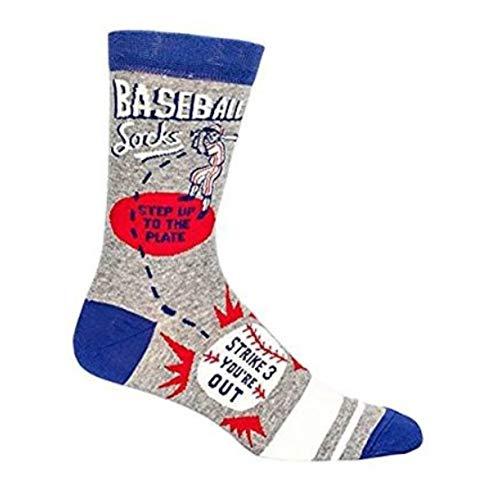 Baseball Mens Socks - Blue Q Unisex-Adult Baseball Socks,Gray, Men's Shoe 7-12