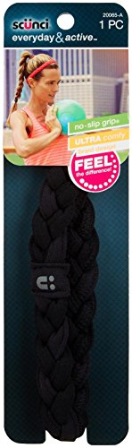 Scunci NS Thick Braided Stretchy Headwrap - Black (Braided Headwrap)
