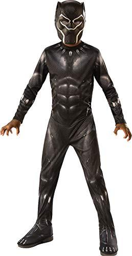 Rubie's 641046 Boys 8-10 Kids Black Panther Movie Costume