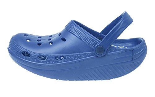 MAPLEAF. - Zapatillas de estar por casa de goma para mujer azul azul elettrico