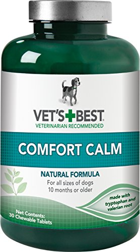 Vet's Best Comfort Calm Calming Dog Supplements, 30 Chewable Tablets, USA Made