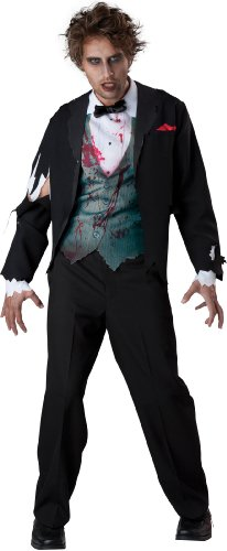InCharacter Costumes Men's Gruesome Groom Costume, Black, Large