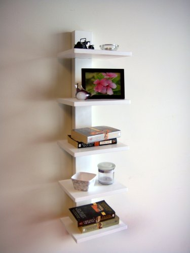 Amazoncom Proman White Spine Wall Mounted Book Shelves Kitchen