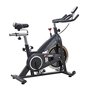 EFITMENT Indoor Cycle Bike, Belt Drive Cycling Trainer Exercise Bike w/ 40 lb Flywheel and LCD Monitor IC014