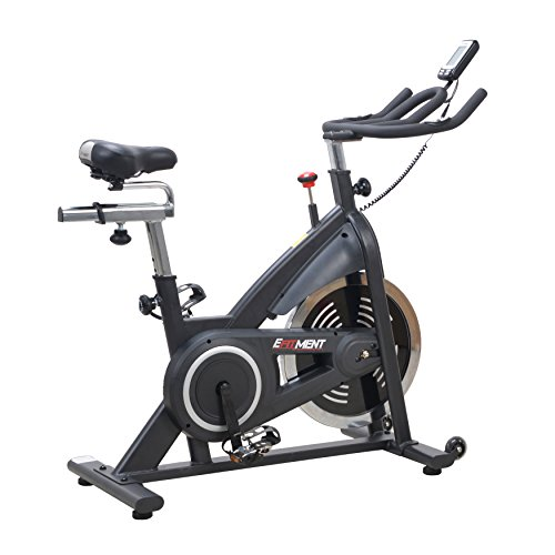 EFITMENT Indoor Cycle Bike, Belt Drive Cycling Trainer Exercise Bike w/40 lb Flywheel and LCD Monitor - IC014
