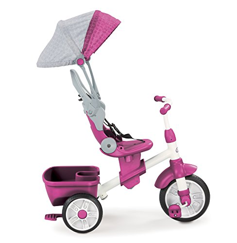 Little Tikes Perfect Fit 4-in-1 Trike, Pink (Girls Radio Flyer Tricycle)