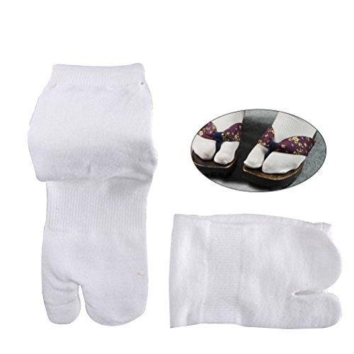 Tinksky Elastic Soft Tabi Toe Socks Japanese Style Flip Flops Socks, gift for women men 2 Pairs (Short-Type)
