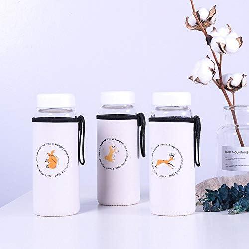 El conjunto de botellas originales Orcas de vidrio, 475 ml, hermosas osos polares, acampar botella deportiva, pote del recorrido, Transporte,Bosque 3PCS septiembre