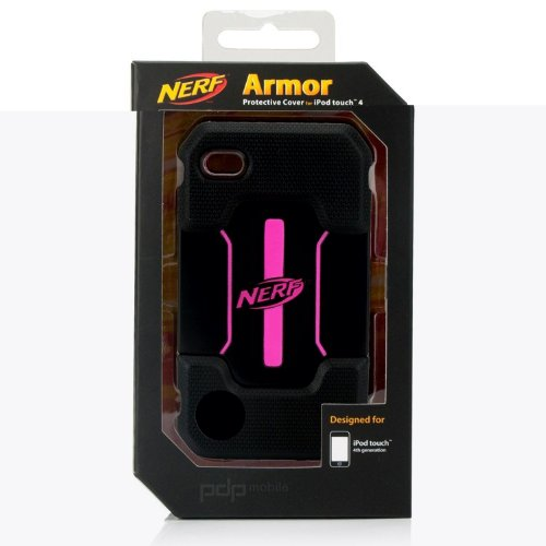 Nerf Armor Foam Case for iPod touch 4G (Black/Pink)