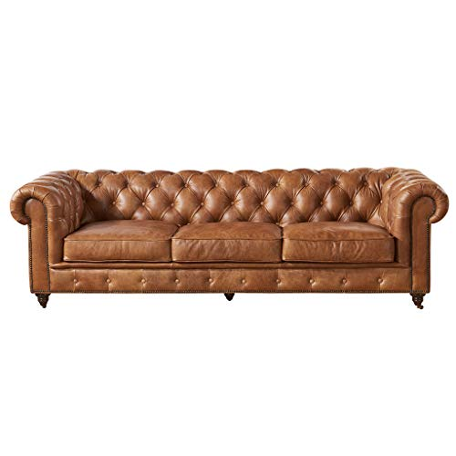 Buy leather chesterfield sofa