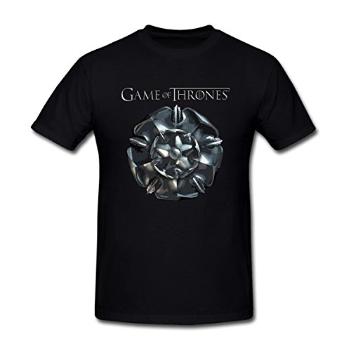 Game of Thrones Shield Pattern Tyrell T-Shirt for Men XXXL Black