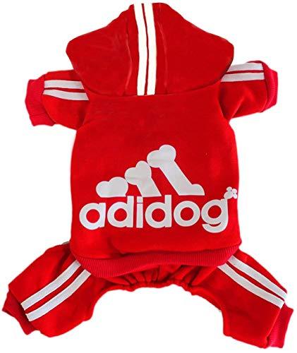 Rdc Pet Adidog Hunde Hoodies, Hunde Kleidung, Fleece Jumpsuit Warmer Pullover, 4 Beine Baumwoll Jacke Sweat Shirt Mantel für Kleiner Hund Mittlerer Hund Großer Hund