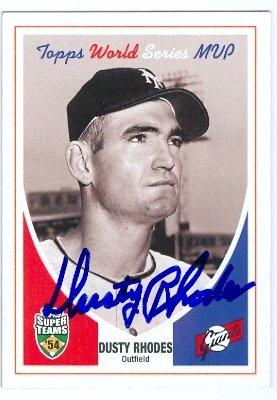 Autograph Warehouse 25731 Dusty Rhodes Autographed Baseball Card New York Giants 2002 Topps Super Teams Ws Mvp 1954   B01N1UE86I