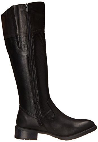 Boot Women's Riding Swansea Leather Bridge Clarks Black w70RFgqPx