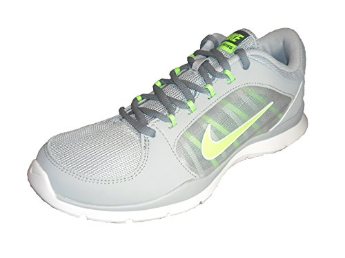 Nike Donna Flex Trainer 4 Wlf Gry / Flsh Lm / Cl Gry / Clssc C Scarpa Da Allenamento 8 Donne Us
