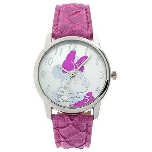 Disney Women's Minnie Mouse Analog Display Pink Watch MINAQ16064