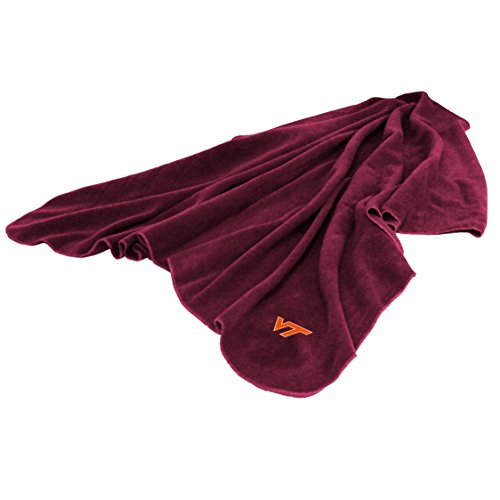 (Logo Virginia Tech Hokies Fleece Throw Blanket)